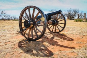 The sort of cannon that would have been used by the soldiers