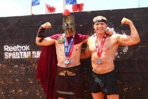 Spartan Warrior posing with my Dad (right)